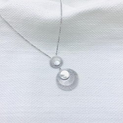 """Collier """"Faustine"""" argent"""