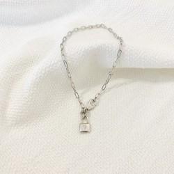 "Bracelet ""Love Lock"" argent"